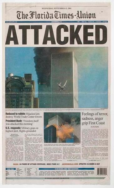 September 11, 2001 archive; 9-11-2001; 9/11/2001; newspaper