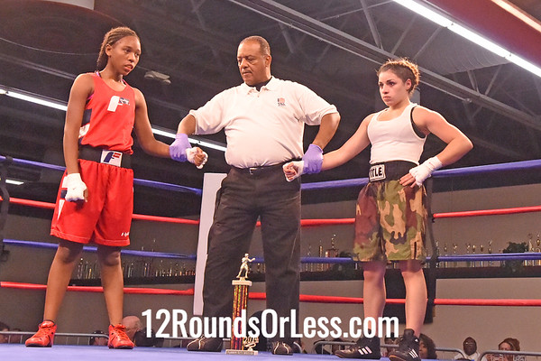 Bout 5 Tatyana Feliciano, Blue Gloves, PA -vs- Kayla Savage, Red Gloves, Cleveland,  110 lbs, Female