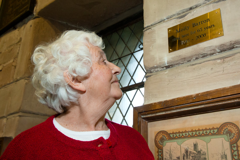 Celebrating the Queen's Diamond Jubilee in Kings Norton. Molly Barron celebrates 63 years as a bell ringer.