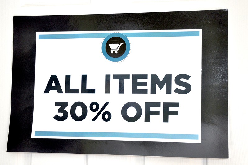 All Items 30% off on Saturday