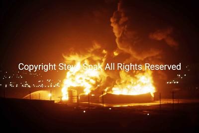 1-07-83-Texaco Gasoline Tank Farm Storage Explosion-Newark NJ