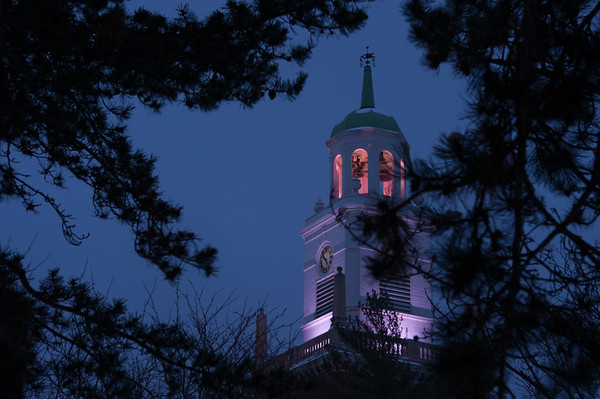 12/15/17 Rockwell Hall Tower with New LED Lighting