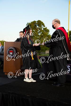 Graduation 2021- Receiving Diplomas
