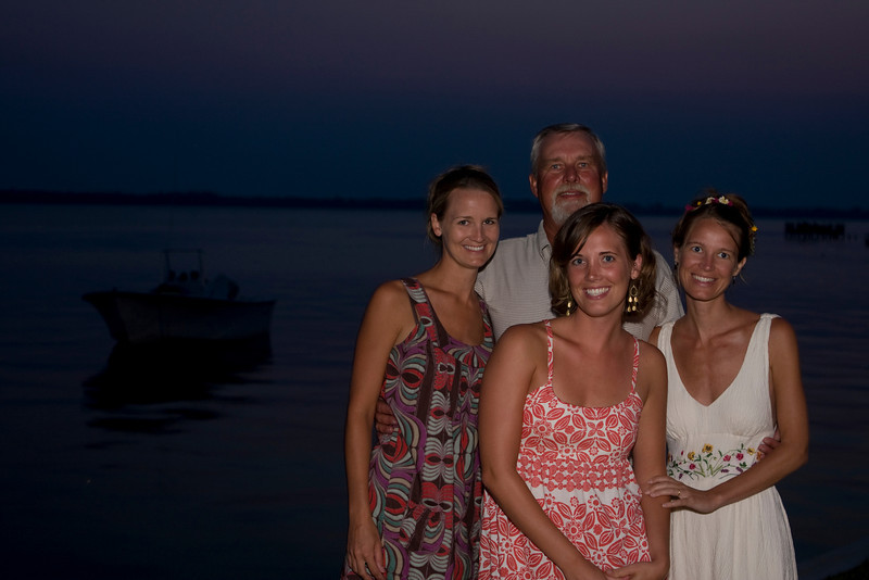 Mandy, Dad and 2 sisters