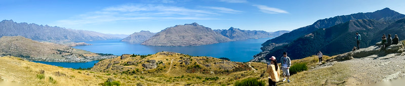 The top of Queenstown Hill