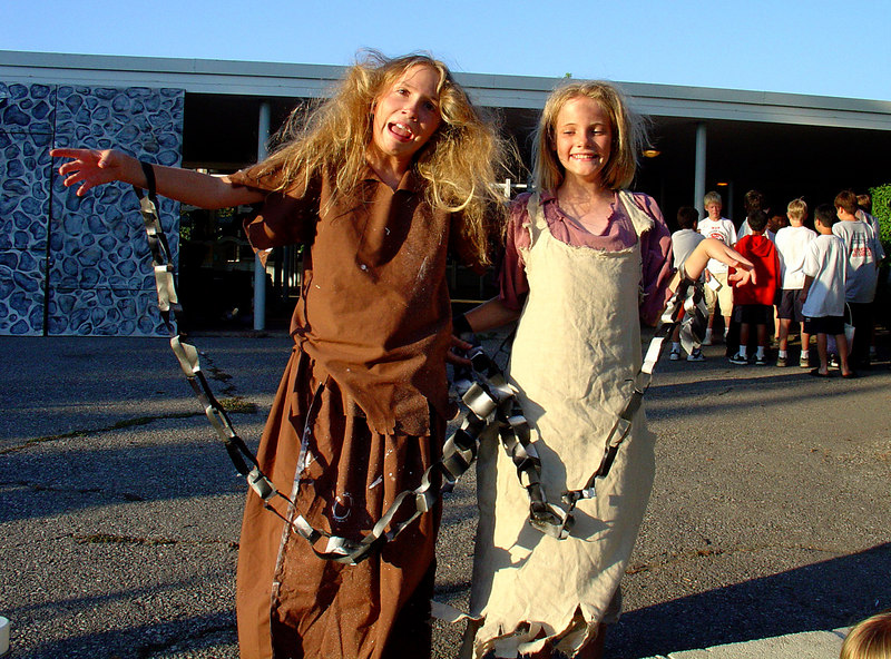 Amelia and Emily after the play.