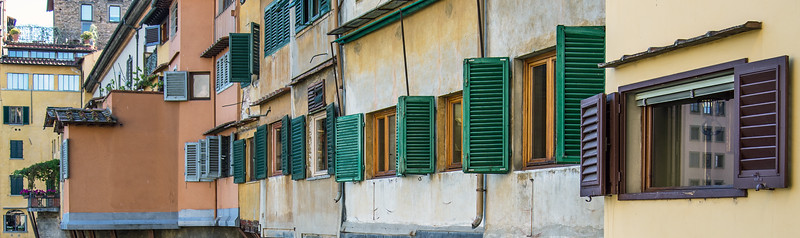 Windows - Ponte Vecchio, Florence, Italy - August 15, 2013