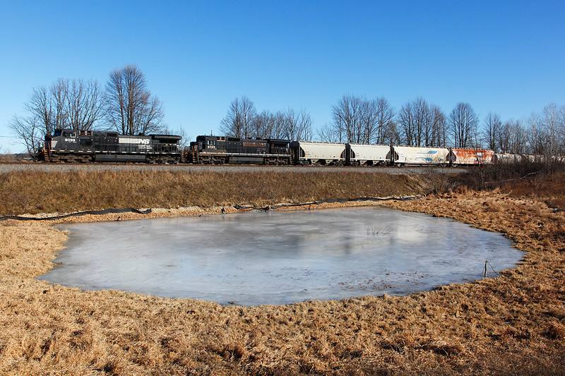 Norfolk Southern 9099 (GE C40-9W) - Ackerville, WI