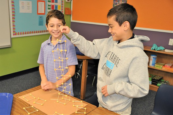 Leaning Towers of Chickpeas In Fourth Grade