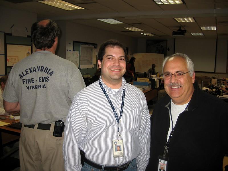 Craig (l) with City Manager Jim Hartmann