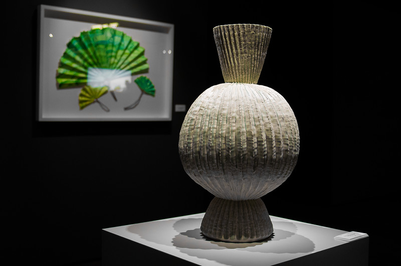 Fans and Vase