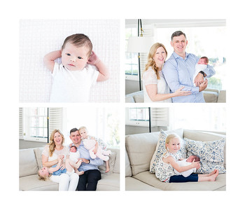 Newborn baby photos at home in Bird Rock - Natural newborn photos with siblings - March 2018