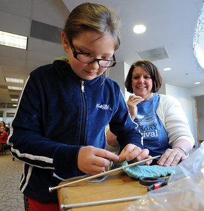 Knit Bombing at the Longmont Public Library