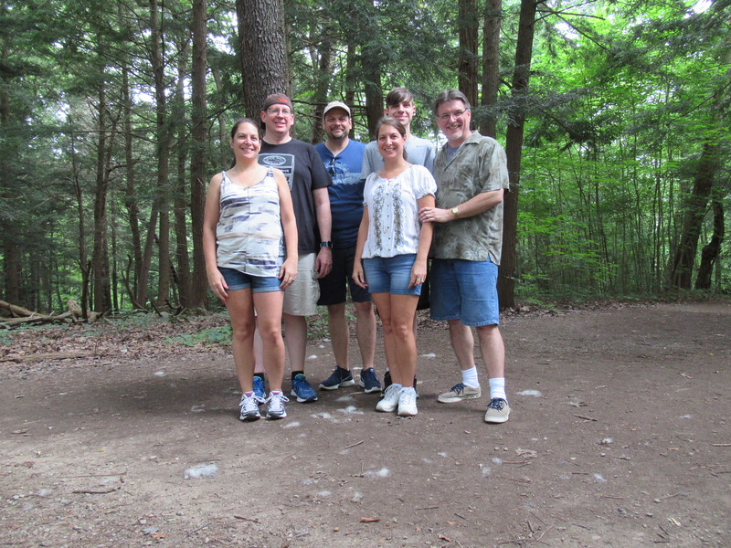 The group that went hiking to Cantwell Cliffs. (Debbie, Jim, Dave, Diane, Andrew and Mike)