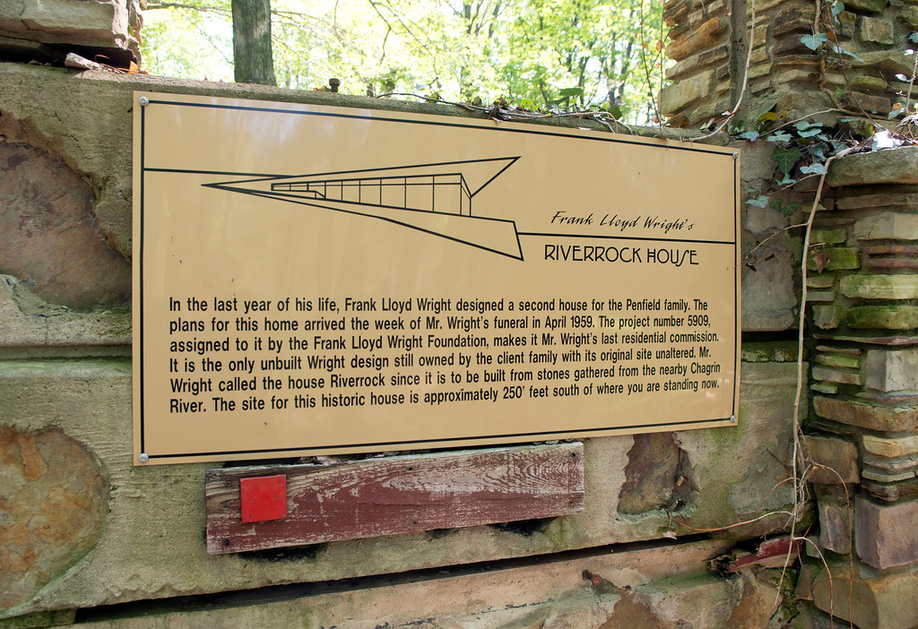 . Duncan Scott/DScott@News-Herald.com The Riverrock House, a second home designed by Frank Lloyd Wright for Louis Penfield, was never built at the proposed site near the Chagrin River in Willoughby Hills.