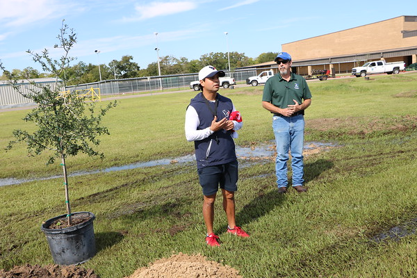 Baytown Junior get trees in partnership with the City of Baytown