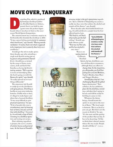 Darjeeling Gin - Sacramento Magazine  www.sacmag.com