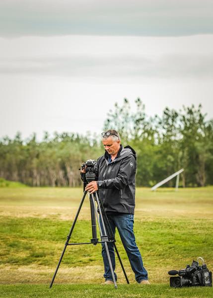 Myndatökumaður, RÚV.  Mynd/seth@golf.is