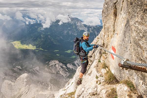 Alpy - ferrata Grosse Buchstein (2224m) - srpen 2018