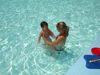 2007-07-02 AJ swim lessons