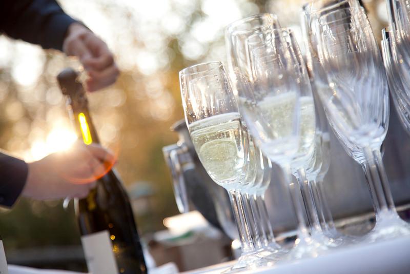 River Café Champagne Glasses