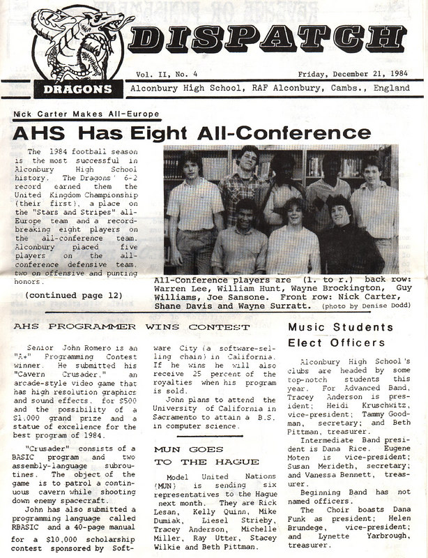 The school newspaper reported my win - someone heard about it and thought it would be a great FRONT PAGE STORY!  The promises of college and the $10,000 scholarship for RBASIC were dashed to the floor in ruins in the following months.  Dashed!