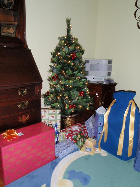 Jenny's Xmas tree and presents!