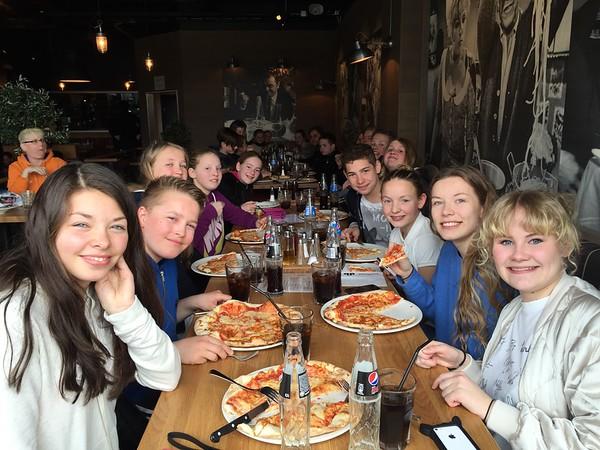 SSC k2 Pasta Pizza og Vikingkamp 12 april 2015
