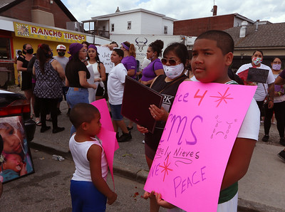 Nieves march against domestic violence 060420