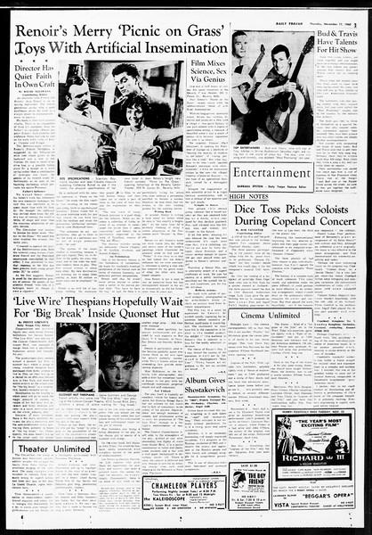 Daily Trojan, Vol. 52, No. 44, November 17, 1960