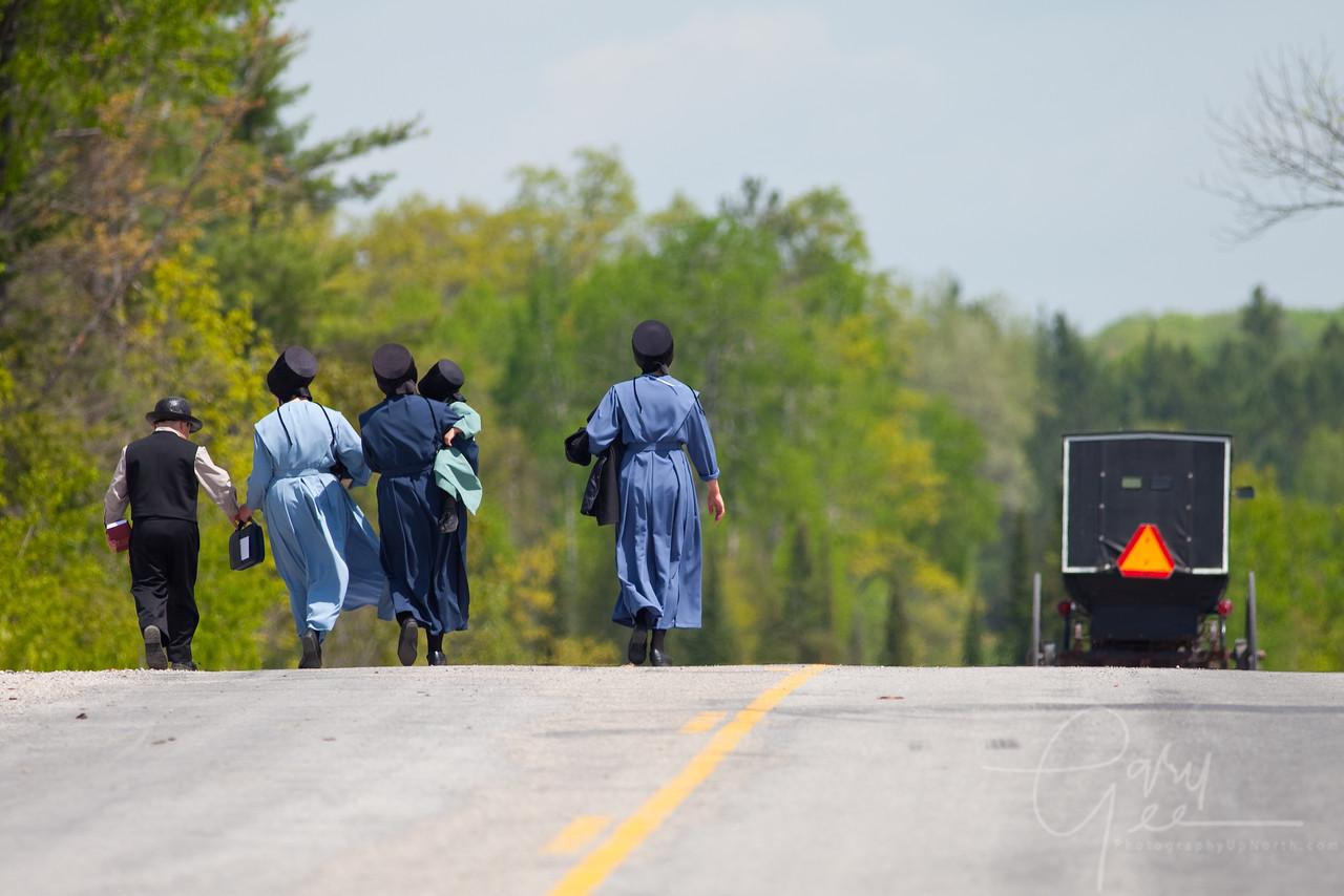 Amish Sunday Walk, Mio Michigan