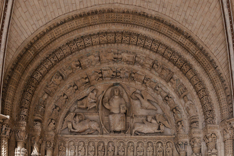 Bourges Cathedral South Porch Portal Tympanum