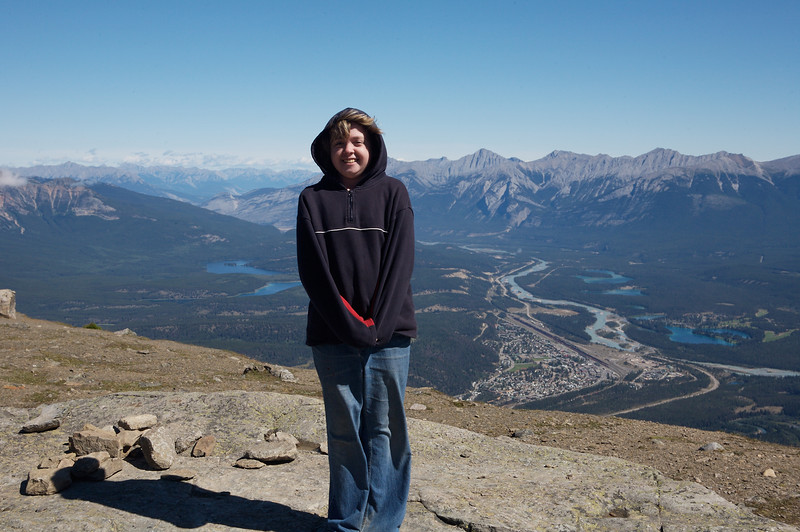 Kyra, as seen from the visitors center at the top of the Jasper Gondola