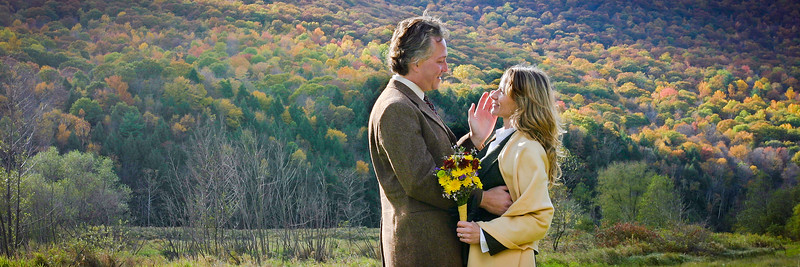 On a cool yet comfortable October day my wife & I married under the sky. We'd eloped to Tioga County in north-central Pennsylvania. The air was crisp, the skies active, and the wind smelled of fallen leaves and ferns. As we stood together posing in front of my camera mounted on a tripod the reality and joy of having just married had us giddy. I'll never forget the way the wind moved her hair and how my hand felt as it touched her cheek. It was about that time that the pair of bald eagles, who'd flown over us as we'd said our nuptials further down the valley, suddenly appeared again. The way they soared over us swirling up into the autumn sky echoed our own emotions.