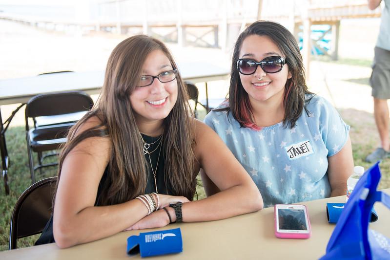 Angela Rodriguez(left) and Janet Cordero at the 2015 TAMU-CC Alumni Shrimp Boil. Saturday October 3, 2015 in Corpus Christi
