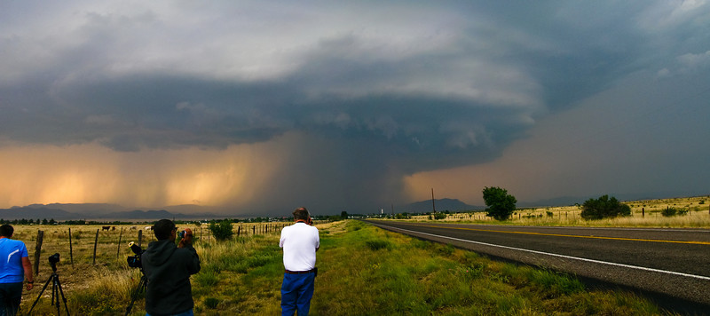 photographing the storm