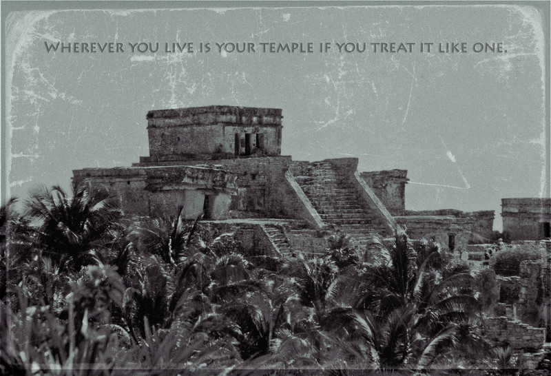 Mayan Temple in Tulum, Mexico, 2003