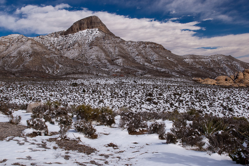Red Rock Canyon National Conservation Area in Winter, Las Vegas, Nevada