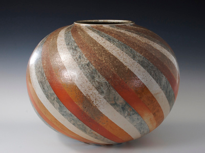 Slip-Decorated Wood-Fired Porcelain