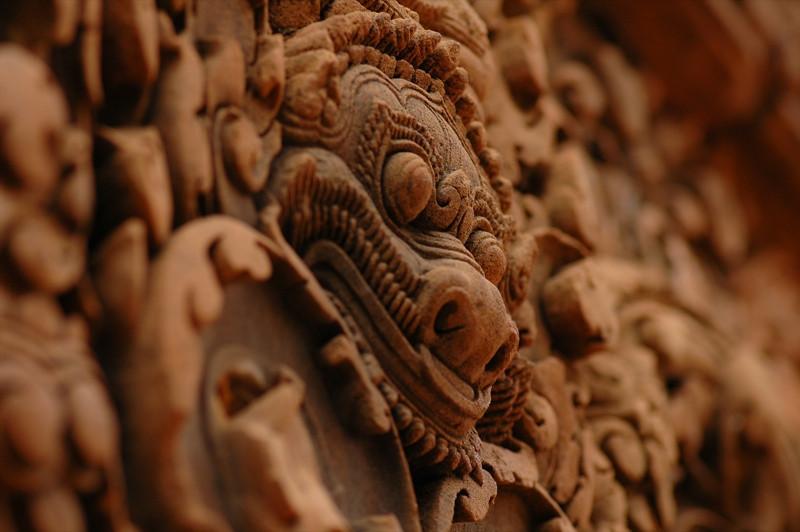 Narasiṃha Engraving - Angkor, Cambodia