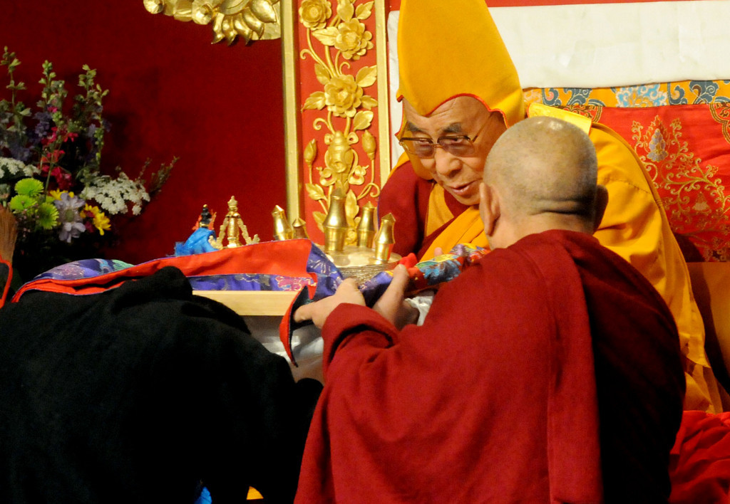 ". Losar with His Holiness the Dalai Lama at Augsberg College on Sunday, March 2, 2014, in Minneapolis. The Dalai Lama spoke for 45 minutes to 2,500 people in the Si Melby Hall. The event included cultural performances by the Tibetan Culture School Students and Tibetan American Foundation of Minnesota, and several local politicians. Losar is the Tibetan word for ""New Year\"" and is the most important holiday in Tibet, Nepal and the Kingdom of Bhutan. This the first time in the  life of His Holiness, since excel that he has observed Losar  outside of India. (Pioneer Press: Sherri LaRose-Chiglo)"