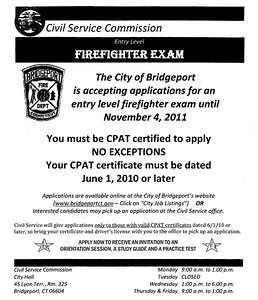 Bridgeport Fire Department Entrance Exam