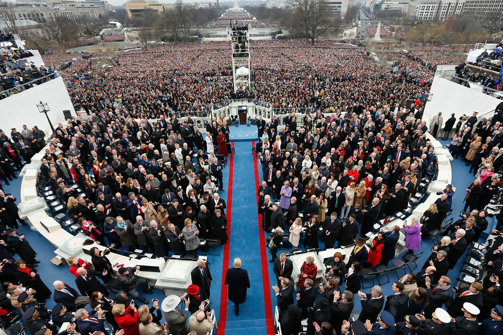 . President-elect Donald Trump arrives during the 58th Presidential Inauguration at the U.S. Capitol in Washington, Friday, Jan. 20, 2017. (AP Photo/Carolyn Kaster)