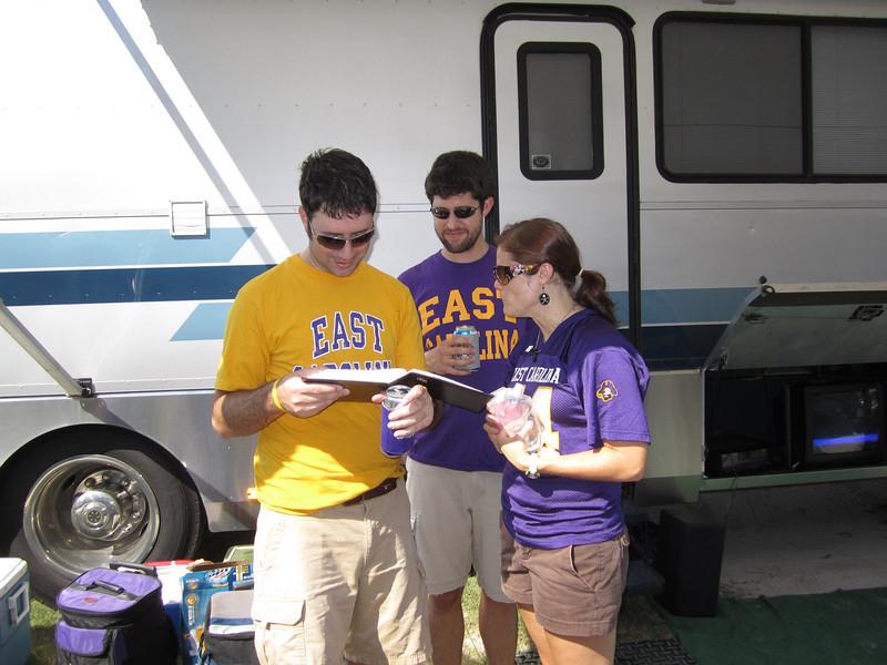 9/10/2011 ECU vs Virginia Tech  Preston, Wayne, Missy