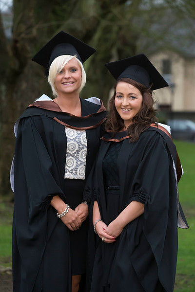 Pictured are Kate Slattery and Stephanie Ryan from Thurles who graduated in Bachelor of Business (Honours). Picture: Patrick Browne