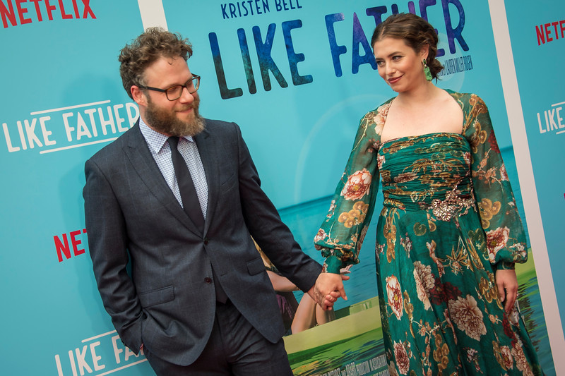 HOLLYWOOD, CA - JULY 31: Seth Rogen and Lauren Miller Rogen arrive at the Premiere Of Netflix's 'Like Father' at ArcLight Hollywood on Tuesday, July 31, 2018 in Hollywood, California. (Photo by Tom Sorensen/Moovieboy Pictures)