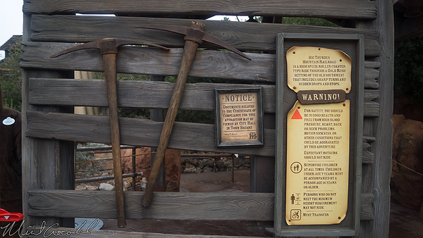 Disneyland Resort, Disneyland, Frontierland, Big Thunder Mountain Railroad, Big Thunder, New, Entrance, Structure, Sign, Signage