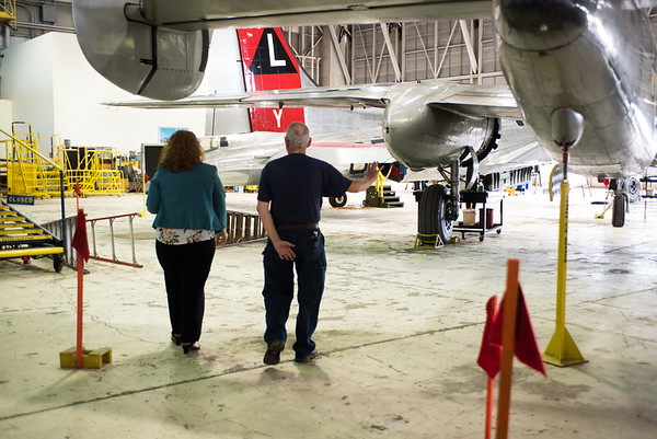 Heart Transplant Patient with Bomber plane
