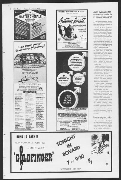 Daily Trojan, Vol. 75, No. 32A, November 03, 1978