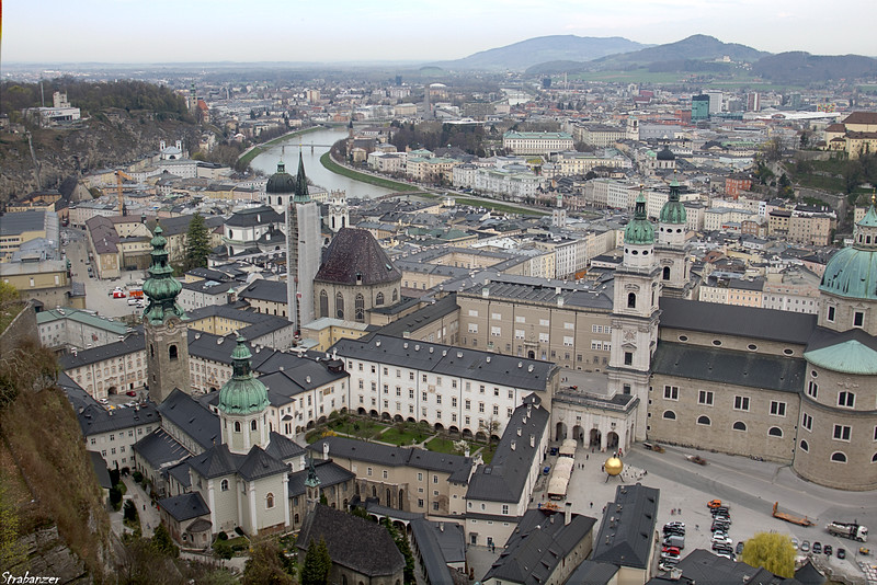View of the Salzach and the city of Salzburg   04/03/2019 This work is licensed under a Creative Commons Attribution- NonCommercial 4.0 International License